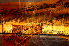 Fond abstrait avec des clés de piano Images stock