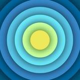 Fond abstrait avec des couches rondes Image stock