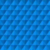 Fond abstrait avec des diamants du bleu 3d Photographie stock libre de droits