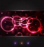 Fond abstrait avec des effets de la lumière illustration stock