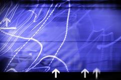 Fond abstrait avec des flèches indicatrices illustration stock