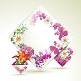 Fond abstrait avec des fleurs Photos libres de droits
