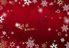 Fond abstrait avec des flocons de neige Images libres de droits