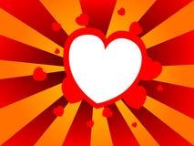 Fond abstrait avec des formes de coeur Photo stock