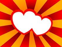 Fond abstrait avec des formes de coeur Images libres de droits