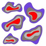 Fond abstrait avec des formes de coupe de papier Image stock