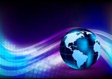 Fond abstrait avec des globes Image stock