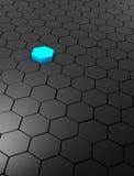 Fond abstrait avec des hexagones Photos libres de droits