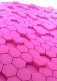 Fond abstrait avec des hexagones roses Images stock
