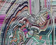 Fond abstrait avec des lignes et des courbes illustration libre de droits