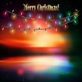 Fond abstrait avec des lumières de Noël Photo libre de droits