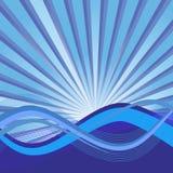 Fond abstrait avec des ondes illustration stock