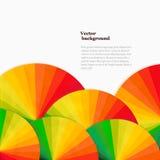 Fond abstrait avec des roues de spectre Templat lumineux d'arc-en-ciel Photo libre de droits