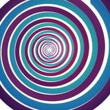 Fond abstrait avec des spirales psyhodelic colorées illustration libre de droits