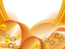 Fond abstrait avec des tournesols Photo libre de droits