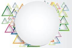Fond abstrait avec des triangles et espace pour votre message Image libre de droits