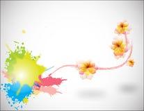 Fond abstrait avec floral Photographie stock