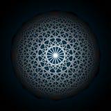 Fond abstrait avec intersecter des formes géométriques La géométrie tournante d'étoile Photo libre de droits