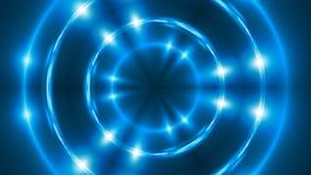 Fond abstrait avec kaléïdoscopique bleu de fractale de VJ 3d rendant le contexte numérique Photo stock