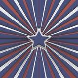 Fond abstrait avec l'étoile et rayures rouges et blanches sur le bleu Illustration Stock