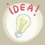 Fond abstrait avec l'ampoule, pensant Images stock