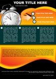 Fond abstrait avec l'horloge pour votre texte Photo libre de droits