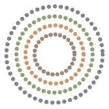 Fond abstrait avec l'hypnose colorée de cercles Vecteur illustration stock