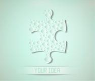 Fond abstrait avec l'objet en forme de puzzle et  Image stock