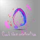 Fond abstrait avec l'oeuf de pâques coloré Photo libre de droits