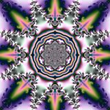 Fond abstrait avec l'ornement circulaire et chiffres géométriques sous forme de fleurs photo libre de droits
