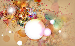 Fond abstrait avec la conception grunge. Images libres de droits