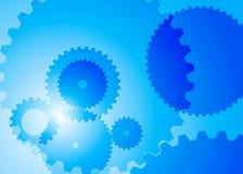 Fond abstrait avec la couleur bleue de grandes et petites vitesses illustration de vecteur