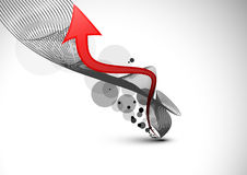 Fond abstrait avec la flèche. .EPS Images stock
