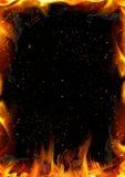 Fond abstrait avec la flamme d'incendie Photographie stock libre de droits