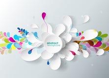 Fond abstrait avec la fleur de papier. Image libre de droits