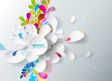 Fond abstrait avec la fleur de papier. Photos libres de droits