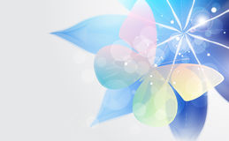 Fond abstrait avec la fleur et le guindineau. Image libre de droits