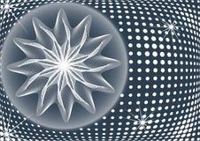 Fond abstrait avec la fleur magique Photo stock