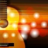 Fond abstrait avec la guitare acoustique Photos libres de droits