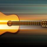 Fond abstrait avec la guitare acoustique Image stock