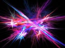 Fond abstrait avec la lampe au néon magique brouillée Photographie stock libre de droits