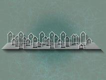 Fond abstrait avec la silhouette de ville Image libre de droits