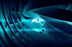 Fond abstrait avec la spirale 3d bleu-foncé brillante Photos stock