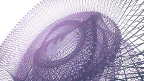 Fond abstrait avec la surface géométrique futuriste rendu 3d Image libre de droits