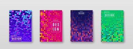 Fond abstrait avec la texture d'image tramée d'éléments de couleur Conception lumineuse d'affiche de modèle Couverture minimale d illustration de vecteur