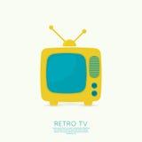 Fond abstrait avec la vieilles TV et antenne illustration de vecteur