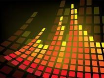 Fond abstrait avec le bar de musique Image stock