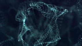Fond abstrait avec le bokeh lumineux, cercles Vague en mer Animations de boucle illustration de vecteur