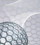 Fond abstrait avec le buckyball Photos libres de droits