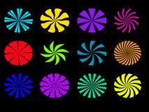 Fond abstrait avec le cercle coloré illustration stock